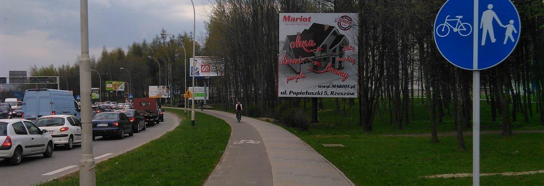 Billboard ul. Powstańców Warszawy – Politechnika, Rzeszów